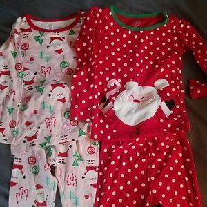 Set of Christmas jammies